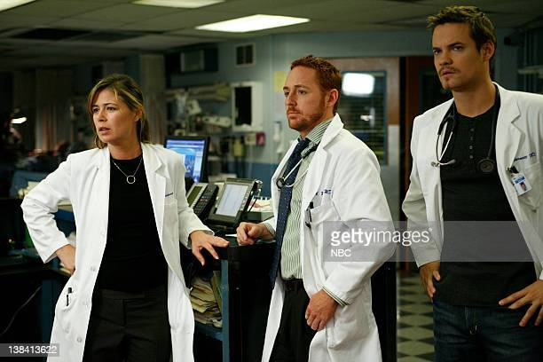 ER 'Breach of Trust' Episode 12 Air Date Pictured Maura Tierney as Dr Abby Lockhart Scott Grimes as Doctor Archie Morris Shane West as Doctor Ray...