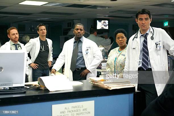 ER 'Breach of Trust' Episode 12 Air Date Pictured Scott Grimes as Doctor Archie Morris Shane West as Doctor Ray Barnett Mekhi Phifer as Gregory Pratt...