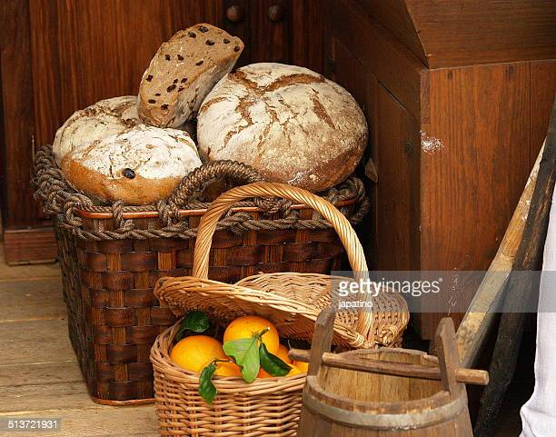Bread and oranges