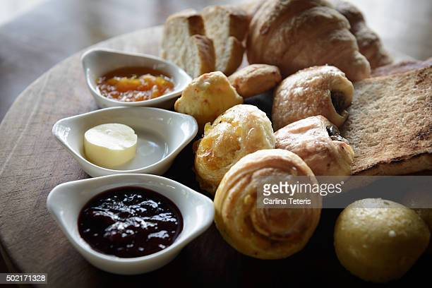 Bread and pastry platter