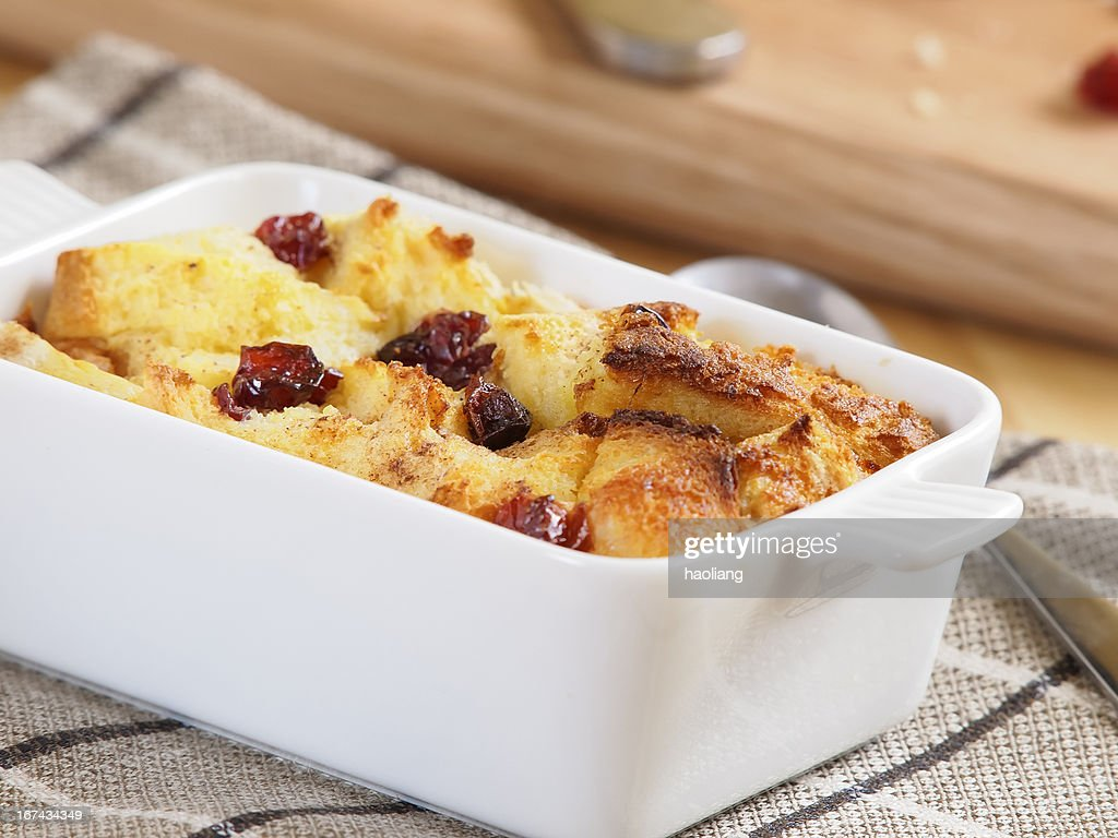 Bread butter pudding : Stock Photo