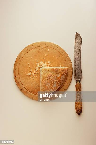 Bread , cutting board , and knife