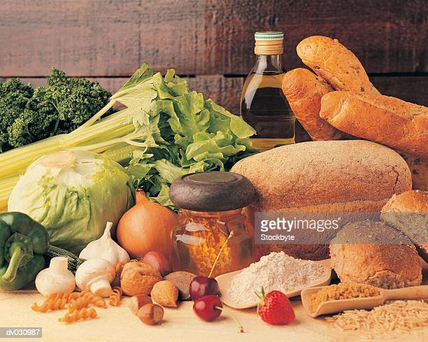 Bread, Grains, Fruit and Vegetables