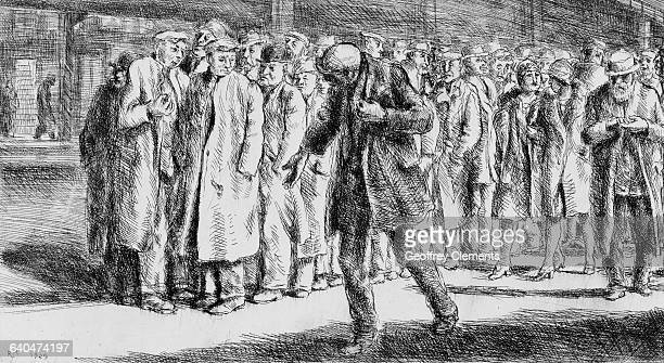 Bread Line by Reginald Marsh