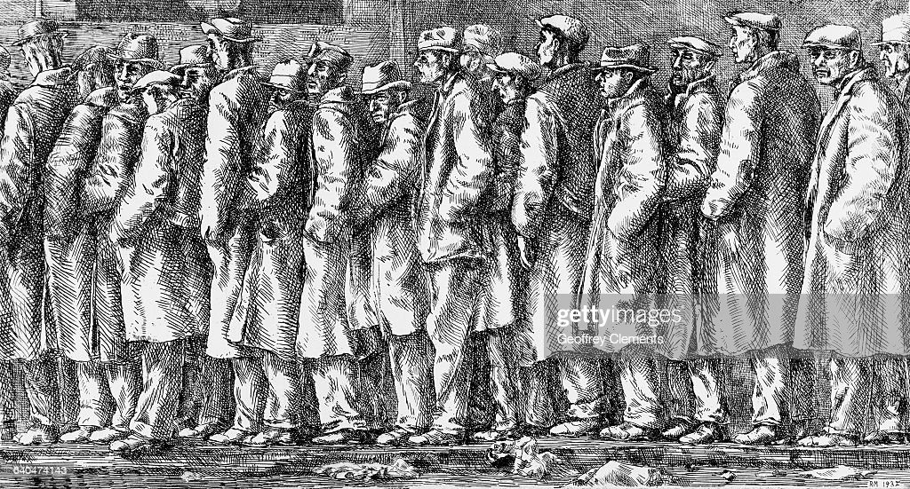 Bread Line - No One Has Starved by Reginald Marsh : News Photo