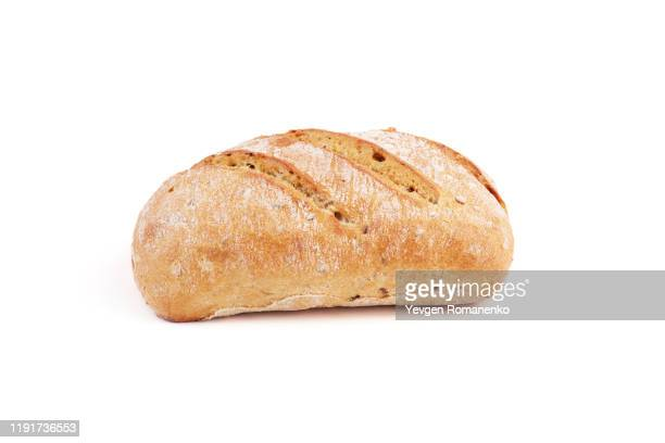 bread loaf isolated on white background - バンズ ストックフォトと画像