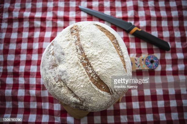 A bread made by psychological counselor Humeyra Busra Nural who grabbed bread making as a hobby besides her work at her home during the Stay Home...