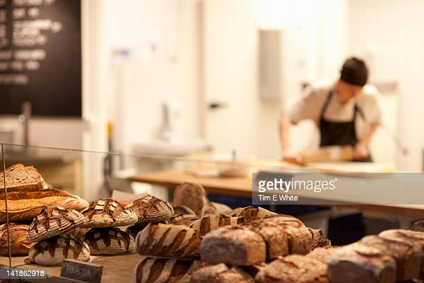 bread making at da matteo's coffeehouse, gothenburg, sweden - gothenburg stock pictures, royalty-free photos & images