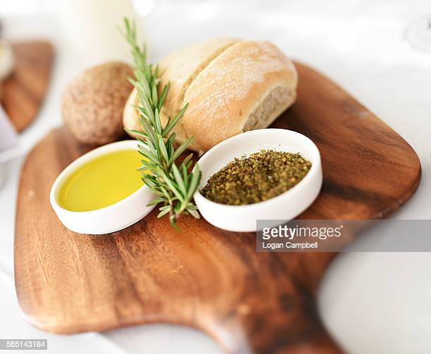Bread, oil and spices apetiser