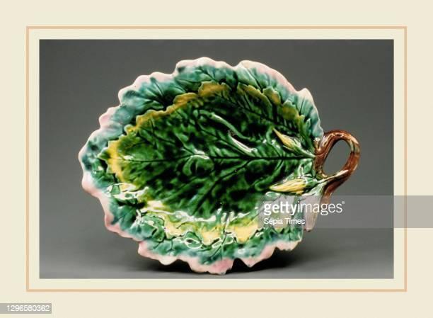 Bread Plate, 1880–89, Made in Philadelphia, Pennsylvania, United States, American, Earthenware, H. 9 1/2 in. ; Diam. 12 in. , Ceramics, Griffen,...