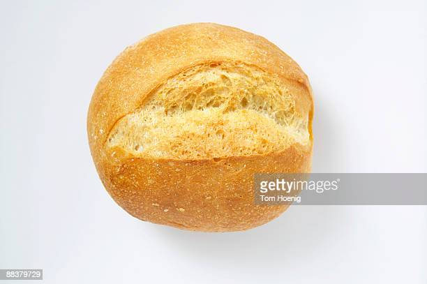 Bread roll, elevated view