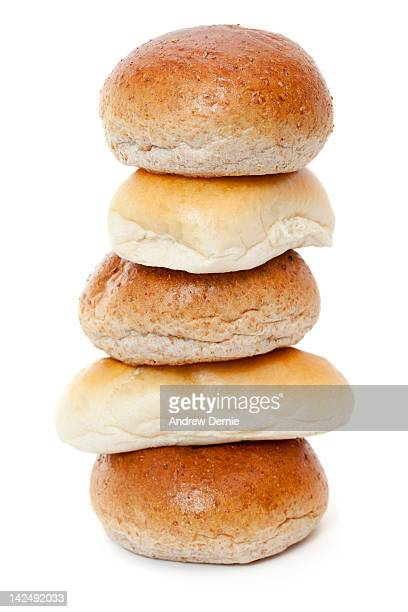 bread rolls - andrew dernie stock pictures, royalty-free photos & images