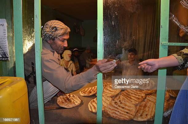Bread sales in a bakery in Carte Char, Kabul Kabul, 2013. DSC_0029