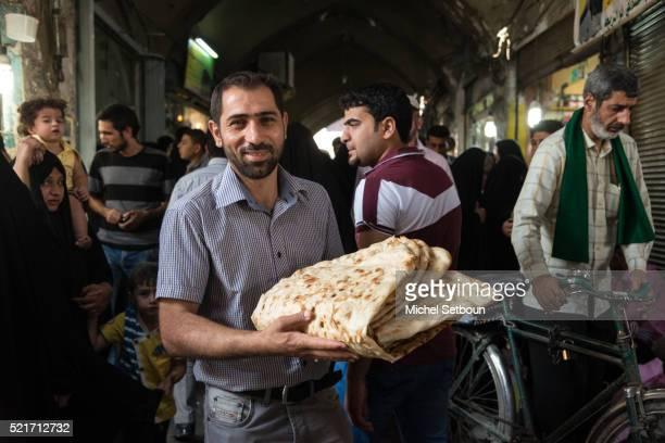 Bread seller in the bazaar