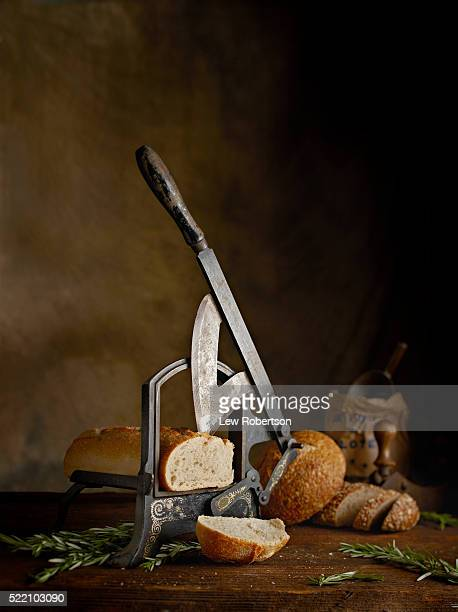 Bread Slicer with fresh baked bread