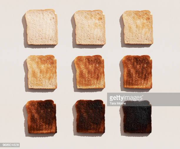 bread toasted in different ways - cuadrado composición fotografías e imágenes de stock