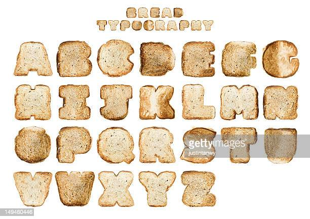 bread typography - font stock pictures, royalty-free photos & images