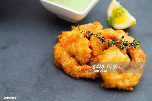 breaded shrimps - breaded stock photos and pictures