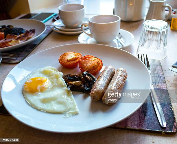 breadfast in british style, lake district, united kingdom - vsojoy stock pictures, royalty-free photos & images