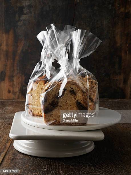 Breads in cellophane gift bags