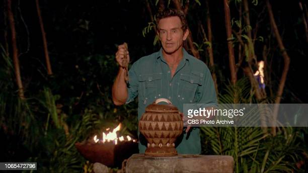 """""""BreadthFirst Search Jeff Probst at Tribal Council on the ninth episode of SURVIVOR David vs Goliath airing Wednesday Nov 21 on the CBS Television..."""