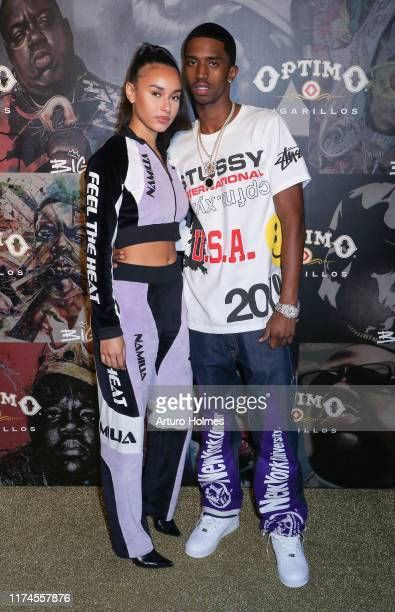 Breah Hicks and Christian Combs attend the Biggie Inspires Art Exhibit Celebration at William Vale Hotel on September 13 2019 in New York City