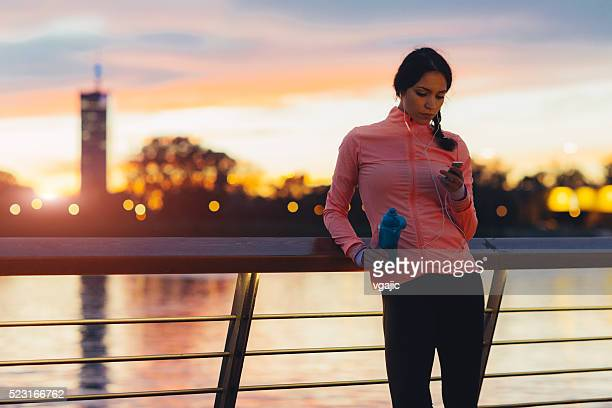 break after jogging. - belgrade serbia stock photos and pictures