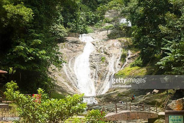 Break at waterfall