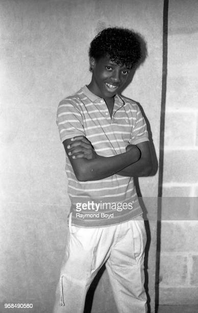 12 year old Break dancer Jermaine Dupri poses for photos backstage at the UIC Pavilion in Chicago Illinois in January 1984