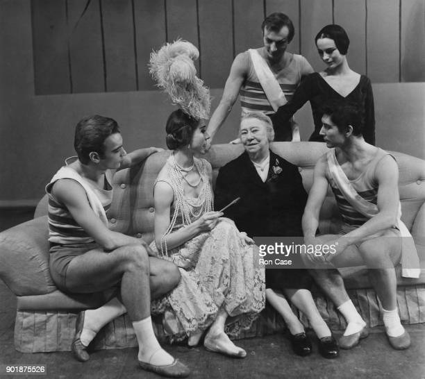 A break in rehearsals for the ballet 'Les Biches' produced by Nijinsky's sister Bronislava Nijinska at the Royal Opera House in London 30th November...