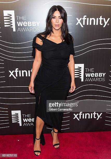 Break the Internet Award recipient Kim Kardashian West attends The 20th Annual Webby Awards at Cipriani Wall Street on May 16 2016 in New York City
