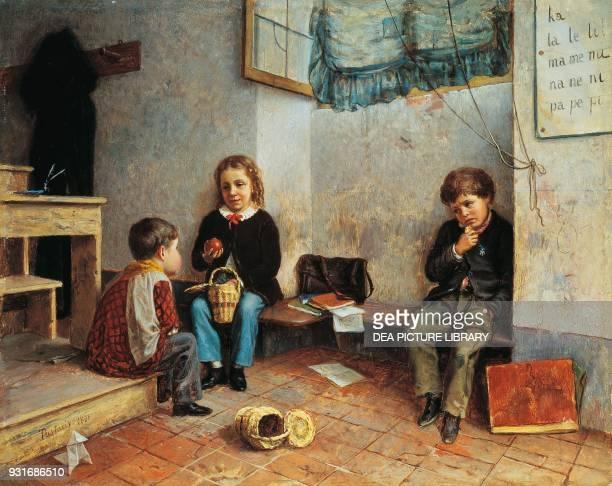 Break time by Federigo Pastoris oil on canvas 475x59 cm
