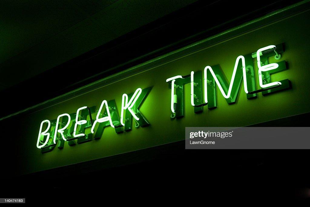 Break Time In Neon Stock Photo