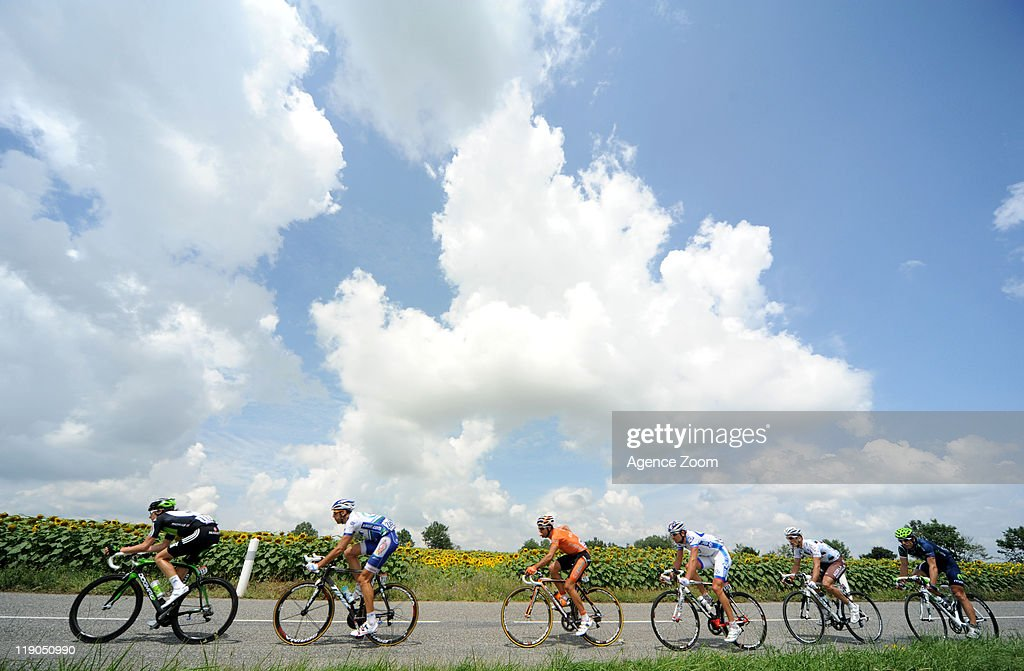Breakaway during Stage 12 of the Tour de France on Thursday 14 July, Cugnaux to Luz-Ardiden, France.