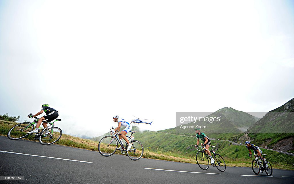 Breakaway during Stage 9 of the Tour de France on July 10, 2011 from Issoire to Saint-Flour, France.