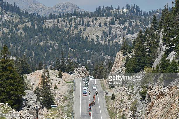A breakaway group during the fourth stage of the 52nd Presidential Tour of Turkey 2016 the 187 km from Seydisehir to Alanya On Wednesday 27 April...