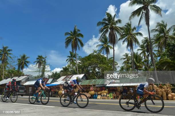 A breakaway of four Jonel Carcueva of Philippines/Go For Gold Team Junrey A Navarra of Philippine National Team Samuel Hill of Australia and Team...