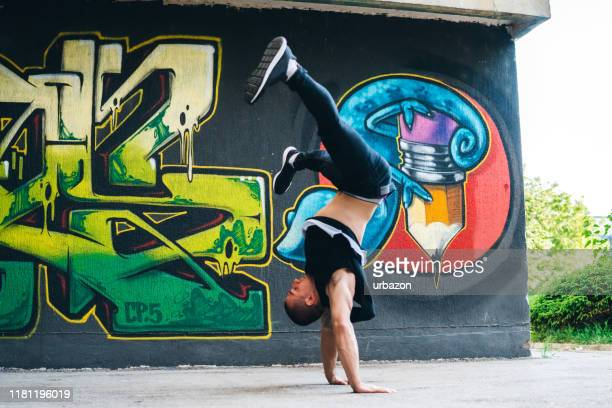 breakdance tricks - funky stock pictures, royalty-free photos & images