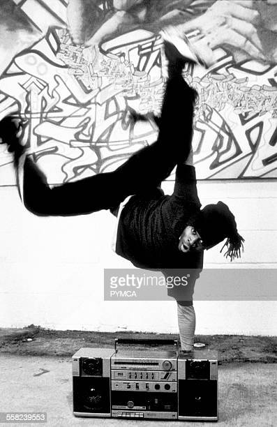 Breakdancer and ghetto blaster 1990s