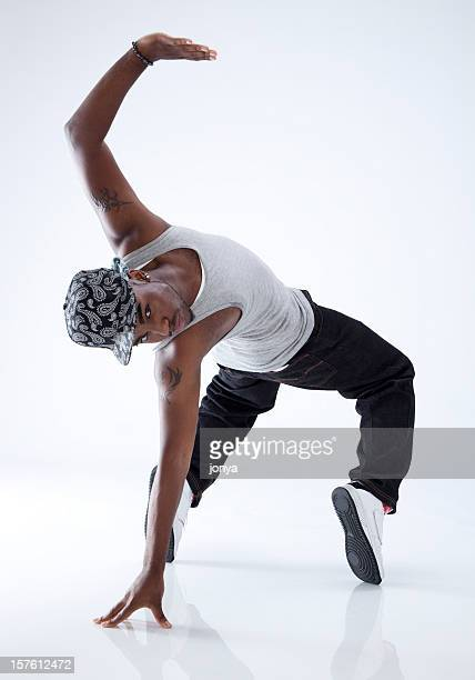 breakdancer on his toes - breakdancing stock photos and pictures