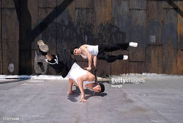 breakdancers - breakdancing stock photos and pictures