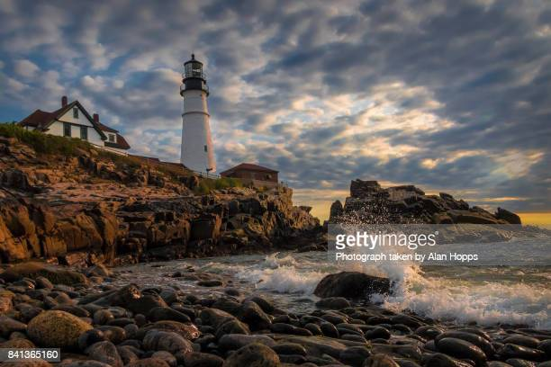 Breakers at Maine Lighthouse