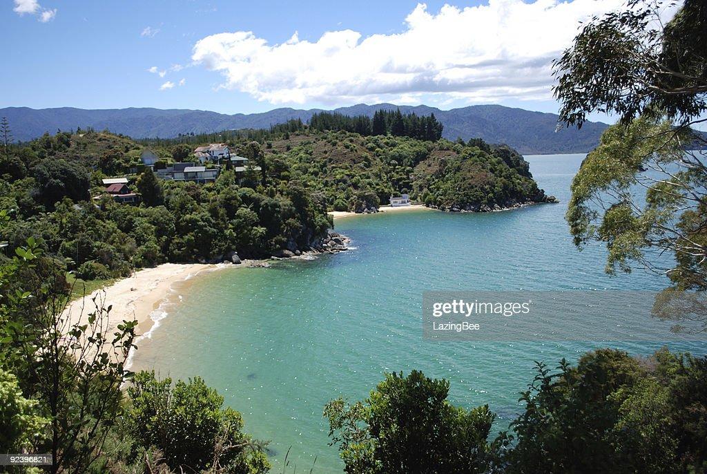 Breakers Bay, Kaiteriteri, Tasman, New Zealand : Stock Photo