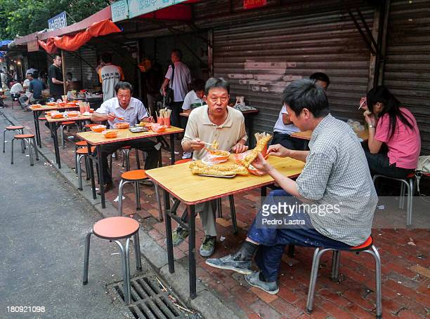Breakfast at street Restaurant, Summer 2011.