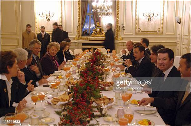 Breakfast at the Ministry of Interior In Paris France On January 03 2006 The government went to the Department of the Interior Nicolas Sarkozy's...