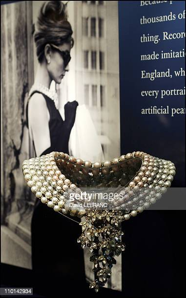 Breakfast at Tiffany's imitation pearls are on display at the American Museum of Natural History in New York City as part of their new Pearls exhibit...