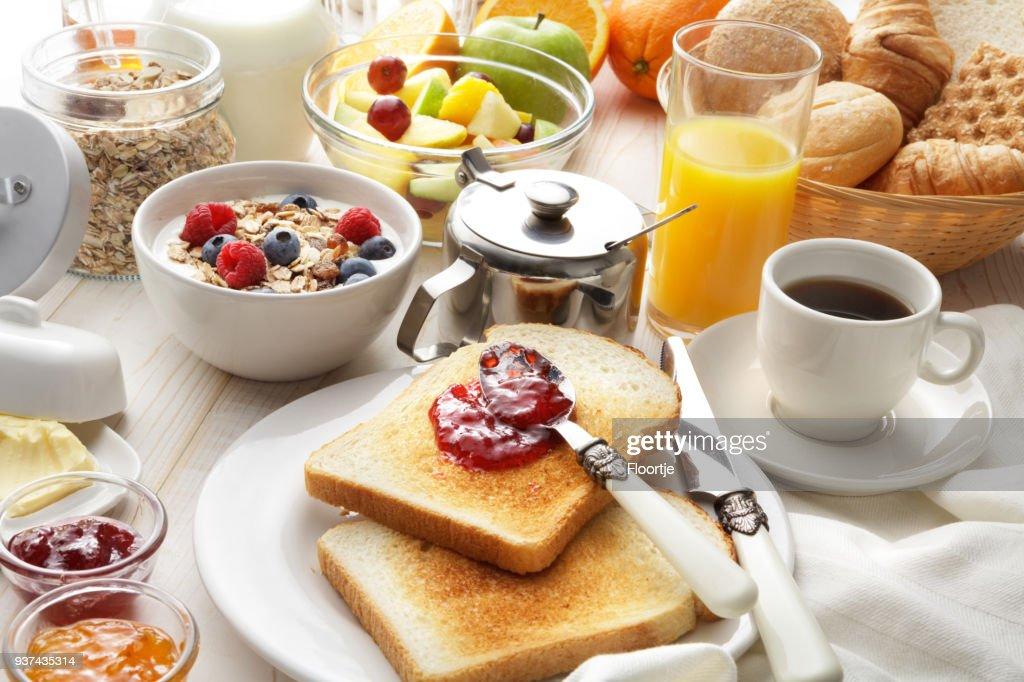 Breakfast: Breakfast Table Still Life : Stock Photo