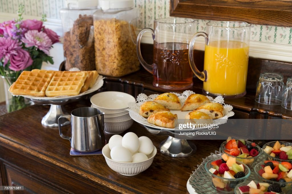 breakfast buffet cheshire cat inn santa barbara ca stock photo rh gettyimages com buffet santa barbara california buffet santa barbara california