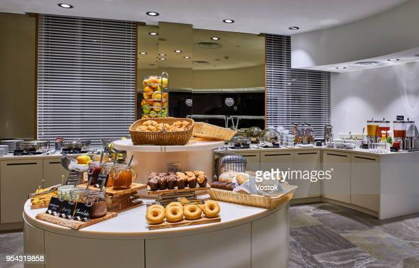 breakfast buffet in hotel in moscow - hotel breakfast stock pictures, royalty-free photos & images