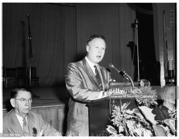 Breakfast Club Speaker, 15 January 1958. Doctor Robert Pierce .;Caption slip reads: 'Photographer: Rustan. Date: . Reporter: Tarpley. Assignment:...